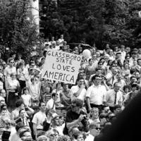 Crowd, Glassboro State Loves America